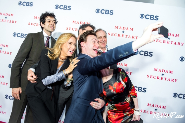 Erich Bergen with the cast of Madam Secretary, CBS.